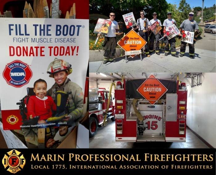 "Marin Firefighters to ""Fill The Boot"" for MDA in April"