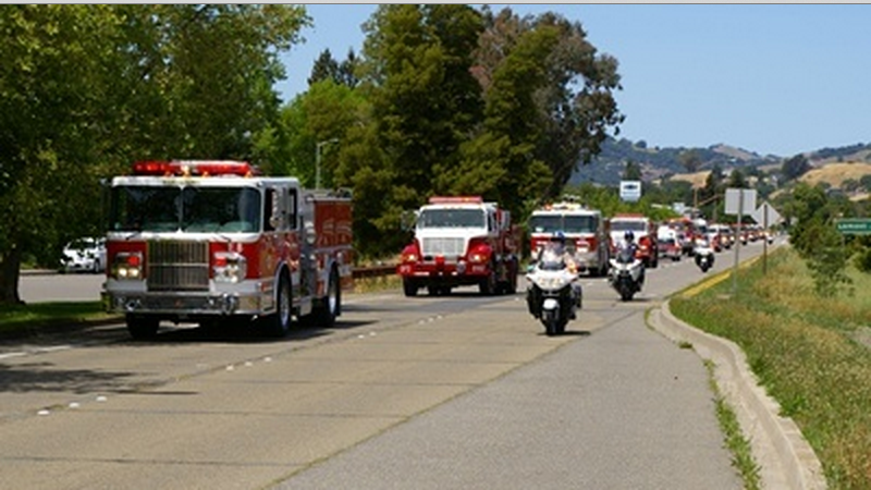 Marin Firefighters Host Fire Engine Relay to Benefit Burn Survivors May 28