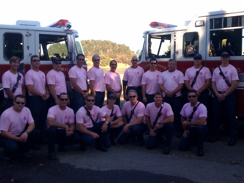 Marin Firefighters in Pink