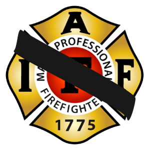 1775 Logo With Black Band to Signify Mourning a Fallen Firefighter